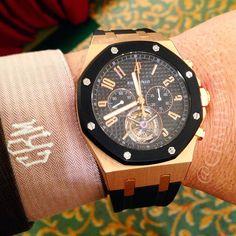 Audemars Piguet Royal Oak Tourbillon. For more eye candy, please follow us on Facebook: https://www.facebook.com/crmjewelers #luxury #apwatches #mensfashion #CRMJewelers #watchesformen