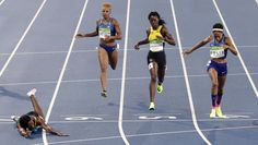Bahamas' Shaunae Miller, left, beats United States' Allyson Felix, second right, to win the women's 400-meter final during the athletics competitions of the 2016 Summer Olympics at the Olympic stadium in Rio de Janeiro, Brazil, Monday, Aug. 15, 2016. (AP Photo/Martin Meissner) via @AOL_Lifestyle Read more: http://www.aol.com/article/2016/08/20/us-womens-basketball-team-wins-6th-straight-olympic-gold-medal/21455656/?a_dgi=aolshare_pinterest#fullscreen
