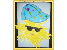 Bricolage enfants pour l'été. Sous le soleil