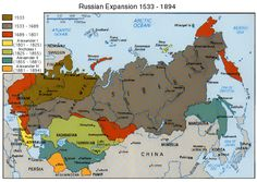 "mapsontheweb: "" Russian Expansion, 1533-1894 """