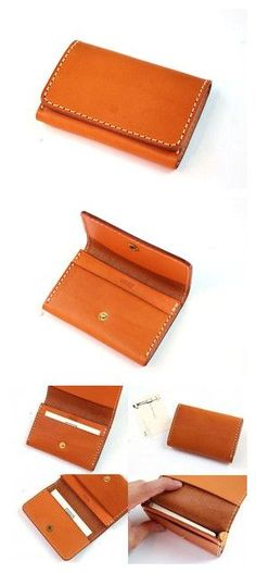 new version of coin purse Leather Card Case, Leather Pouch, Leather Purses, Leather Wallets, Handmade Leather Wallet, Leather Gifts, Leather Art, Leather Design, Crea Cuir