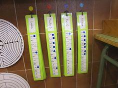 DICTATS MUTS: ells van posant un gomet quan van fent els dictats Circle Time, Classroom Organization, Locker Storage, Writing, Learning, Maths, Cook, Ideas, Recipes