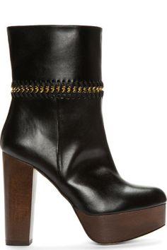 Sophia Webster - Black Leather Tasseled Kendall Ankle Boots | SSENSE