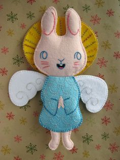 felt bunny angel