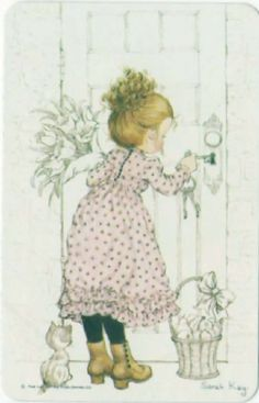 Vintage Sarah Kay Blank Back Playing Card Very Good Condition Smooth Stock Sarah Key, Mary May, Les Themes, Dibujos Cute, Vintage Drawing, Holly Hobbie, Anne Of Green Gables, Australian Artists, Cute Images