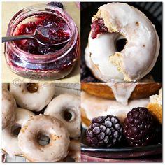 Blackberry Whole Wheat Mini-Donuts {Recipe}