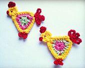 Crochet PDF pattern - sunflower applique. $2.50, via Etsy.