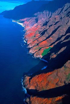~~The Earth From Above ~ Na Pali Coast, Kaua'i, Hawaii by Blaine Harrington~~