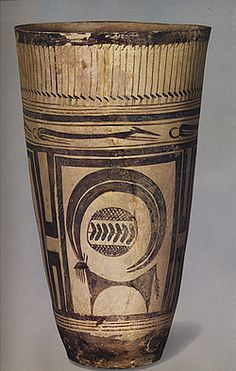Incredible minimalism=Susa beaker (ancient Iran/Persa) Beginning of surface decoration