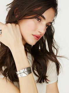 Destiny Feather Cuff at Free People Clothing Boutique