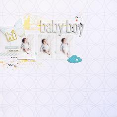 Baby boy // Page by Punky Dee // Quatrième épreuve du tournoi des scrapz'amies