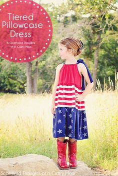 Tiered Pillowcase Dress tutorial and pattern