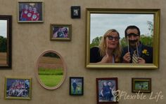 """Pictures of Nana and PawPaw in the middle, cutouts for other family members!!  Put saying, """"All because two people fell in love."""""""