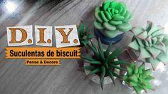 DIY -  Suculentas de biscuit ( Aprenda a modelar suculentas em biscuit )