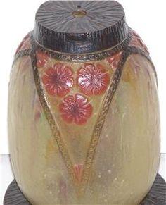 argy-rousseau | Details about Gabriel Argy-Rousseau Signed Glass Boudoir Lamp France ...