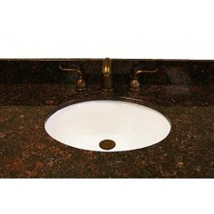 Dark Tan Brown Granite, Backsplash And cUPC Sink -- Width: Height Depth: Finish; Bathroom Vanity Tops, Single Bathroom Vanity, Tan Brown Granite, Brown Note, Kitchen Cabinet Kings, Granite Backsplash, Dark Tan, Vanity Cabinet, Sink Faucets