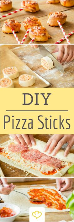 You have not seen pizza like this before: crunchy pizza sticks- So hast du Pizza noch nicht gesehen: Knusprige Pizzasticks Popsicles, cake on a stick, pizza on a stick … Moment, … - Pizza Snacks, Snacks Für Party, Pizza Pizza, Comida Picnic, Crispy Pizza, Good Food, Yummy Food, Party Finger Foods, Party Buffet
