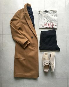 """bd977a37b44 Details   zara coat   jeans  bershka tee   shoes  outfitgrid  gridfiti   outfitkillers…"""""""