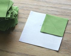 Sewing a diagonal line without marking the fabric. SO. EASY. Will be using this trick for binding.