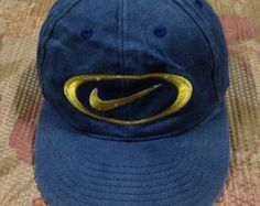 vtg NIKE cap black adjustable one size fits all by JunkMyHearts