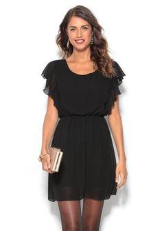 Volánové šaty bez rukávov #ModinoSK #LBD Nouvel An, Dresses, Fashion, World, Minimal Dress, Plunging Neckline, Ruffle Sleeve, Black Gowns, Moda Femenina