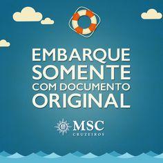 É indispensável levar RG, CNH ou Passaporte para embarcar num cruzeiro! #MSC