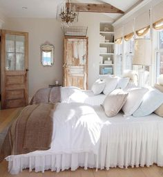 A Must see List- Rustic Farmhouse Bedroom Master Suite - oneonroom - Rustic Far. - A Must see List- Rustic Farmhouse Bedroom Master Suite – oneonroom – Rustic Farmhouse Bedroom - Shabby Chic Bedrooms, Home Decor Bedroom, Bedroom Design, Farmhouse Bedroom Decor, Beautiful Bedrooms, Interior Design, Home Decor, Shabby Chic Homes, Stylish Bedroom