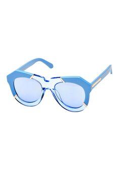 One Splash Sky Blue Sunglasses - Karen Walker