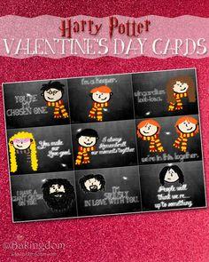 Harry Potter Valentine's Day Cards by ©Bakingdom. Makes my nerd self glow :)