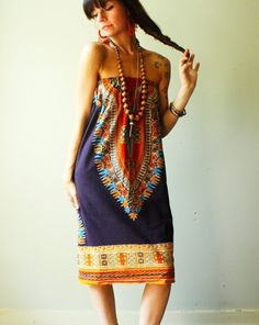 native aztec summer tube top dress dashiki by WhatsOliviaWearing, $60.00