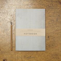 Navy Stripe Notebook 32 lightly ruled inner pages 120gsm ivory paper
