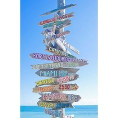 Directional sign in Key West- idea for boat dock... places we've been