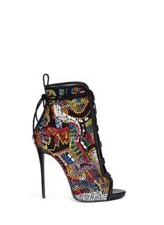 'Coline' bohemian strass suede boots #boots #covetme #giuseppezanottidesign