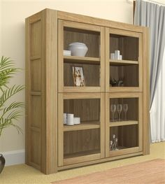 atlas chunky oak hidden home. was 94900 now 87400 atlas large glazed display cabinet is part of the chunky oak hidden home f