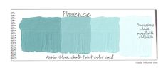 Color Swatch Cards of color Provence...Chalk Paint® by Annie Sloan