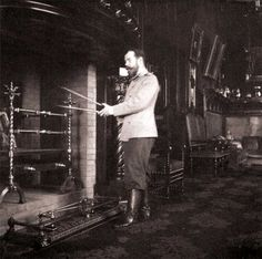 Tsar Nicholas II.Now that's a fire place!