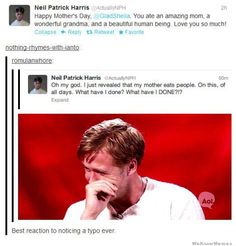 Neil Patrick Harris Reveals His Mother Eats People