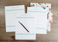 Free Printable 2017 Calendar - Kick off the school year with a fresh start and a cute new calendar! This set of 12-month printable calendars is available to download for free, you'll find the link below. They're simple, stream-lined and the perfect planning tool to help you start the school year off on the right foot!