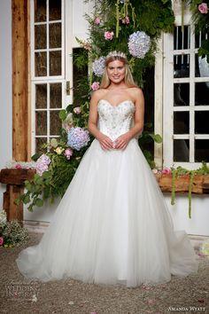 amanda wyatt 2017 bridal strapless sweetheart neckline beaded heavily…