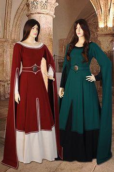 Medieval Costume Gown 100% Natural Cotton handmade Maiden Gown Renaissance