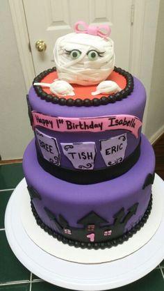 Amy's Crazy Cakes - Mummy Halloween Birthday Cake