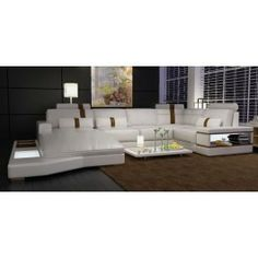 Modern Leather Sectional Sofa - 6104 - 2275.0000 i love every thing about this, the stripes come in black too.