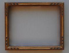 "S-2756-118-NL (width 1 1/8"") Thin Hand Carved Plein Air Gold"