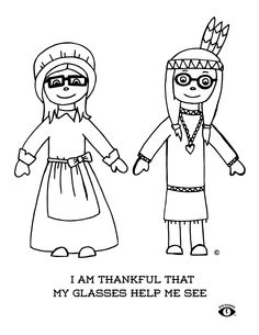 Im Thankful My Glasses Help Me See Free Coloring Page Printable By Eye Power Kids Wear