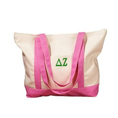 Personalized Embroidered Tote Bag in Many Colors Personalized and Monogrammed Tote Bags Personalize this great roomy personalized canvas tote bag for Sigma Lambda Gamma, Delta Zeta, Kappa, Sorority Outfits, Monogram Tote, Monogram Styles, Canvas Tote Bags, Cotton Tote Bags, 5 D