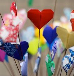 Bouquet de Cœurs Origami