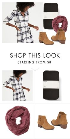"""""""Plaid Dress"""" by karinasoto39 on Polyvore featuring American Eagle Outfitters, Charlotte Russe and Jessica Simpson"""