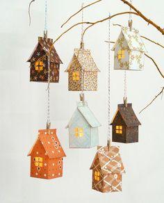 Stitch & Fold Paper House Luminary Kit - Artesanato marcador - Home Kids Crafts, Projects For Kids, Diy And Crafts, House Projects, Foam Crafts, Wood Projects, Diy Paper, Paper Crafting, Paper Art