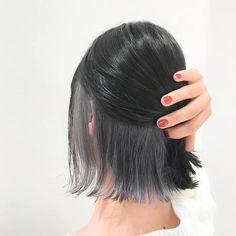 Ash Gray Hair Color, Hair Color Streaks, Hair Dye Colors, Dark Grey Hair, Hidden Hair Color, Hair Color Underneath, Peekaboo Hair, Underlights Hair, Shot Hair Styles