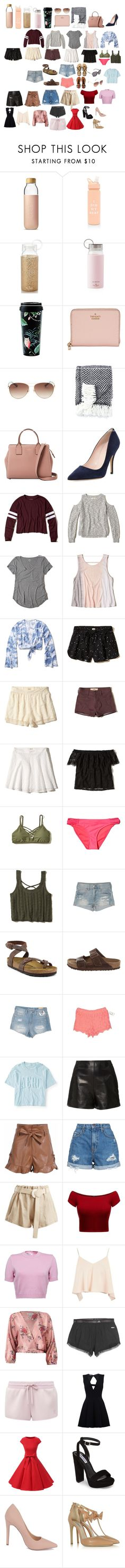 """""""Untitled #482"""" by savannahtaylor950 on Polyvore featuring Soma, ban.do, Kate Spade, Hollister Co., American Eagle Outfitters, Birkenstock, Aéropostale, RED Valentino, Nobody Denim and Albus Lumen"""